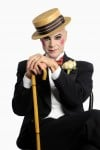 "Rudy Hogenmiller  Stars as the Emcee in the Light Opera Works  Production of  ""Cabaret"""