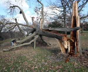 Thousands still without power locally after Sunday storms