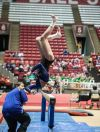 Merrillville's Kristina Goodman placed 33rd on balance beam at the state gymnastics meet Saturday.