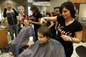 Gallery: Senneca Leek gets a haircut for charity