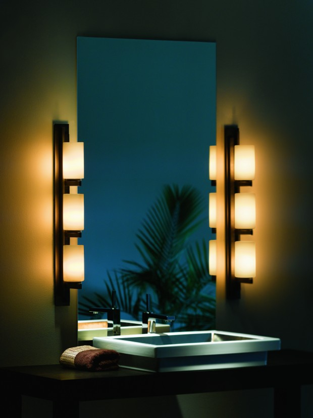 Vanity With Side Lights : At Home: Go to the dark side : Home & Garden