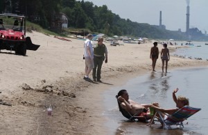 Metallic sheen reported again on Lake Michigan
