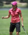 Lewis on top when play halted at U.S. Women's Open