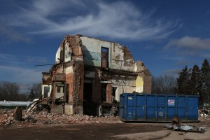 Historic building comes tumbling down in Lowell