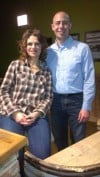 Comedienne Sandra Bernhard with Steven Foster of Chicago at City Winery Chicago in January 2013