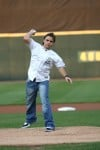 Jackson kin throw out first pitches
