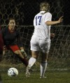 Lake Central's Hillary Campbell scores a goal