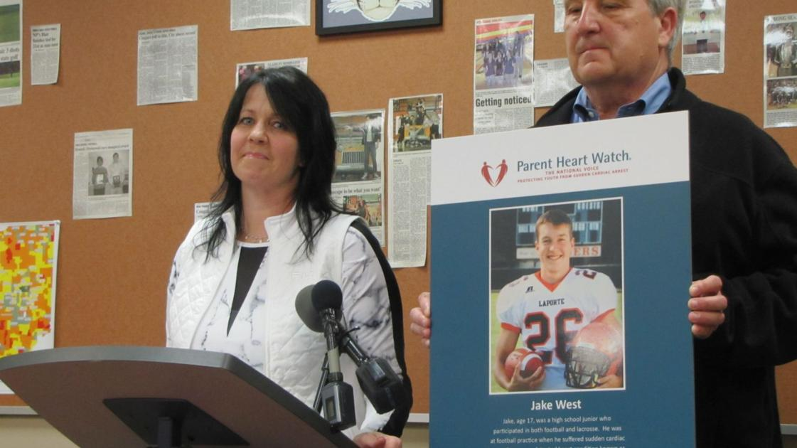 Free student heart screenings legacy of jake west for Laporte county news