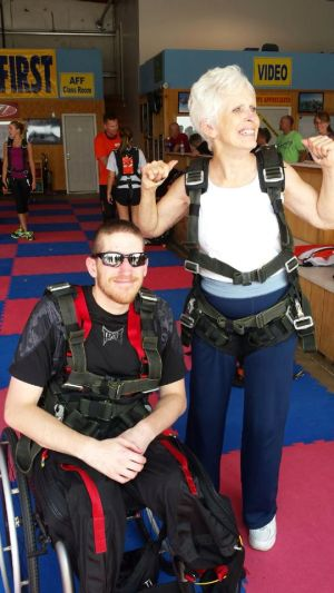 Grandson joins grandmother in skydiving adventure