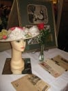 Gossip Columnist Hedda Hopper's Hat and Exhibit Table Display