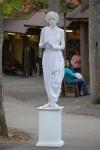 Fair's Statue Viva not taking liberties with pigeons