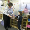 Kindergartners elect President Obama at St. Mary polling place