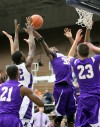 Hobart's Zoran Talley snags a rebound against Merrillville on Thursday night.
