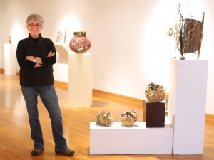 Environmental artist weaves nature with discarded items for IUN exhibit