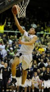 Bishop Noll's Jose Rosario scores the lead-changing layup