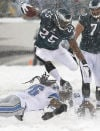 McCoy runs for 217, Eagles beat Lions in blizzard