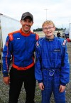 Hebron 12-year-old chasing the big dogs in Legends Division at Illiana Speedway