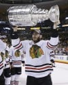 Brandon Saad switch is center of attention at Hawks camp