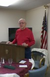 City Councilperson Ed Gottschling speaks at Portage Exchange Club