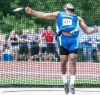 Lake Central's Gelen Robinson won the state discus