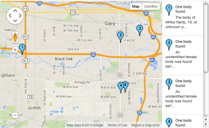 Map: Bodies found