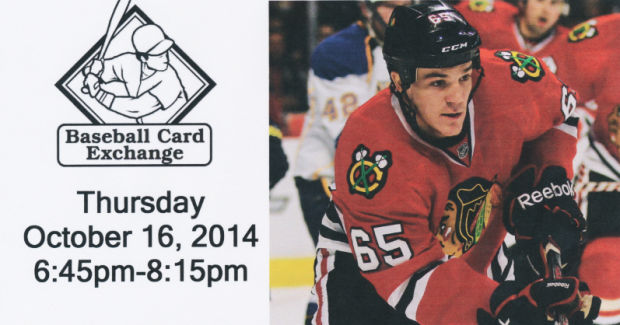Blackhawks' Andrew Shaw to sign autographs Oct. 16