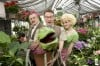 "Peter Kevoian (left), Jon Cunningham with Audrey II and Tiffany Trainer Star as the leads in ""Little Shop of Horrors"" at Theatre at the Center"