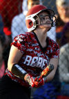 T.F South's Ashtyn Kapovich triples against Illiana Christian in the second inning Friday.