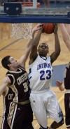 Lake Central junior Glenn Robinson III takes a shot