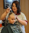 Shorn heads at Burnham fundraiser aid cancer fight