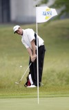 Crown Point's Nick Grubnich chips while competing