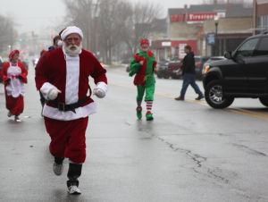 Santas take to the streets in C.P.