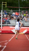 Lake Central's Kate Moricz placed fourth in the pole vault (12-0) at Saturday's IHSAA girls track and field finals.