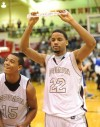 Bowman's Antonio Pipkin and Justin King celebrate semistate crown