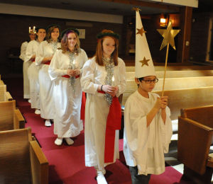 Redeemer Lutheran Church crowns Lucia queen during annual celebration