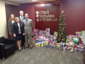 Firm collects Toys for Toys