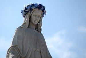 Virgin Mary statue moved to new spot on church grounds
