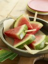 Watermelon Slice Popsicles