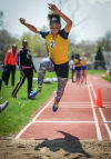 Thornwood's Janaia Carter was third in the triple jump at the Carol Urich Invitational on Saturday.