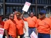 Highway workers picket county complex