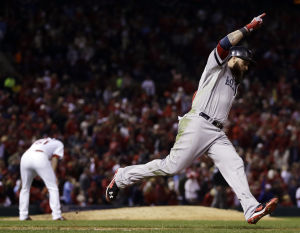 Gomes HR helps Red Sox tie the series