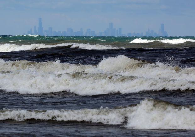high waves prompt lake michigan beach hazard advisory