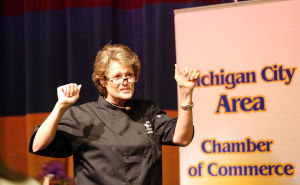 Chef cooks success at inspiring women