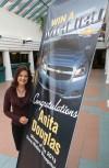 Anita Douglas of Schererville wins a Malibu