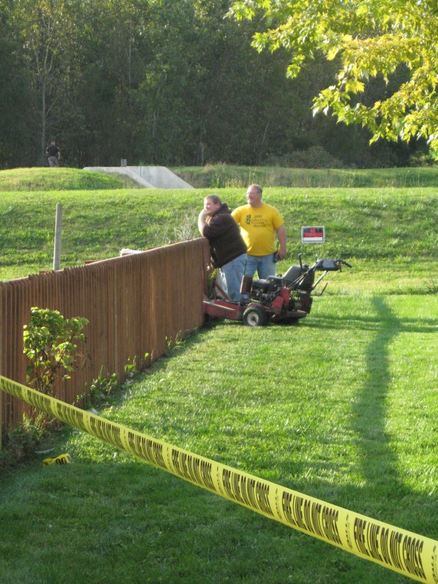 Man possibly shot while mowing lawn in hebron for Vip lawn mowing services