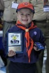 Pinewood derby day at the Chicago Auto Show