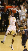 Valparaiso's Vashil Fernandez dunks against Loyola Marymount on Saturday.