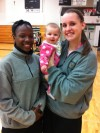 Lucy Byrne with Marian's Ashton Millender, Megan Walsh
