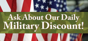 Military Men & Women Receive 10% Off Their Purchase Every Day!