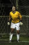 Lake Central goalie Amy Gasiorowski minds the net